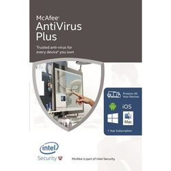 McAfee Antivirus Plus 2017 10 Urządzeń z kategorii Programy antywirusowe, zabezpieczenia
