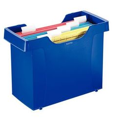 Kartoteka na teczki zaw. Leitz Plus 1993 niebieska z kategorii Pudła i kartony archiwizacyjne