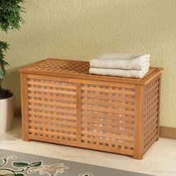 Vidaxl kosz na pranie z drewna orzechowego 77,5x37,5x46,5 cm
