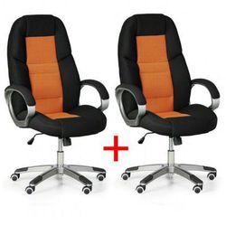 Krzesło biurowe kevin 1+1 gratis, pomarańczowy marki B2b partner