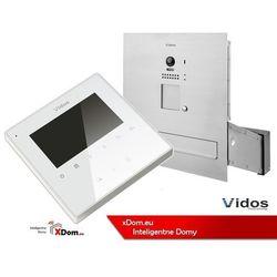 Vidos zestaw wideodomofonu skrzynka na listy monitor 3,5 s1201-sk+m1022w