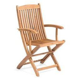 Beliani Krzesło ogrodowe jasnobrązowe drewno akacjowe z podłokietnikami maui (4251682228800)