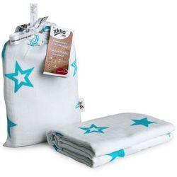Pielucha do otulania 120x120cm Turquoise Stars XKKO 1 szt. - Turquoise Stars, BMB120029