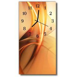 Zegar Szklany Pionowy Abstrakcja grafika pomarańczowy, kolor pomarańczowy