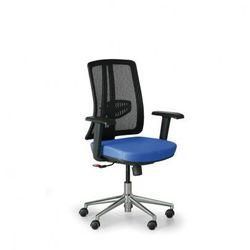 B2b partner Krzesło biurowe human, czarny/niebieski