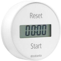 - elektroniczny timer kuchenny mocowany na magnes - biały - biały marki Brabantia