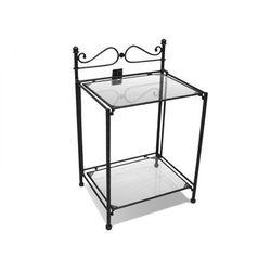 Vente-unique Romantyczny stolik nocny marquise - metal o wyglądzie kutej stali