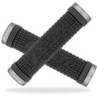 Lizard skins Lzs-lopds100 chwyty kierownicy  peaty lock on 30x130 mm, czarne, klamry grafitowe (6962600601084)