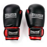 Rękawice bokserskie evolution standard czerwono czarne marki Meteor