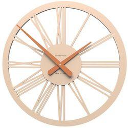 Calleadesign Zegar ścienny tarquinio  różowo-piaskowy
