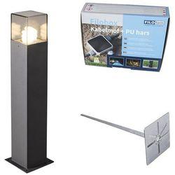 Lampa zewnętrzna szara 70cm IP44 z klinem i mufą kablową - Denmark