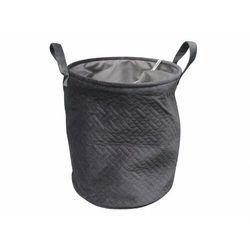 Kosz na pranie VOLLUTO - Welur - Szary