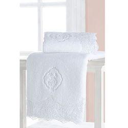 Mały ręcznik 32x50 cm diana biały marki Soft cotton