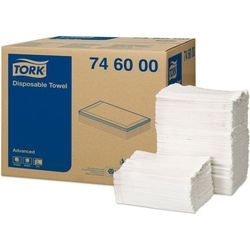 Tork jednorazowy ręcznik do włosów 5-warstwowy 250 szt biały (7310797460004)