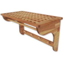 vidaXL Wieszak na ręczniki z drewna orzechowego 59,4x30x34,5 cm (8718475999928)