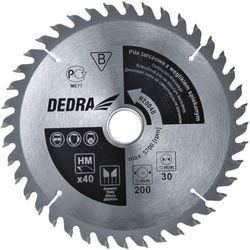 Tarcza do cięcia DEDRA H20060E 200 x 16 mm do drewna HM