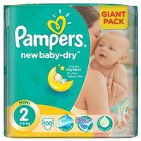 Pampers New Baby - Dry Pieluchy rozmiar 2 Mini 100 szt. (4015400736172)