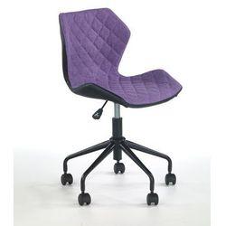 Halmar Pikowane krzesło biurowe z czarnym tyłem matrix