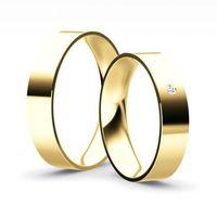 Obrączki goldendreams Klasyczne obrączki płaskie z brylantem model z35l2 (komplet), kategoria: obrączki ś