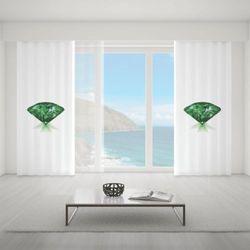 Zasłona okienna na wymiar - GREEN EMERALD