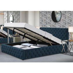 Łóżko tapicerowane do sypialni 140x200 sfg042 welur #77 marki Meblemwm
