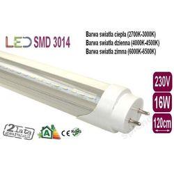ŚWIETLÓWKA LED 3014 T8 16W CLEAR 120cm ciepła z kategorii świetlówki