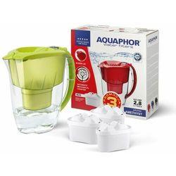 Aquaphor Dzbanek filtrujący Amethyst 2,8 l + 3 wkłady B100-25 Maxfor (kolor limonkowy)