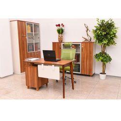 Nowoczesne biurko z kontenerem evolutio tb-0f marki Bemondi
