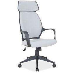 Obrotowe krzesło biurowe na czarnym stelażu q-188 marki Signal