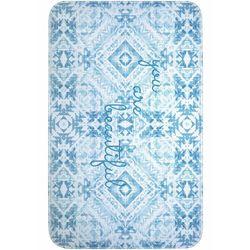 Dywaniki łazienkowe z pianką memory bonprix niebieski