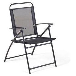 Krzesło ogrodowe czarne LIVO (4260602373018)