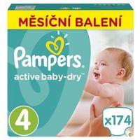 Pampers  pieluchy active baby 4 maxi - 174 sztuki, kategoria: pieluchy jednorazowe