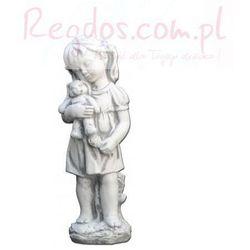Figura ogrodowa betonowa dziewczynka z misiem 44cm
