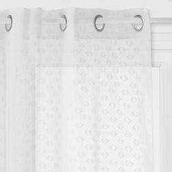 Nowoczesna zasłona na przelotkach ze wzorem, stylowa biała zasłona zaciemniająca do różnych wnętrz marki Atmosphera