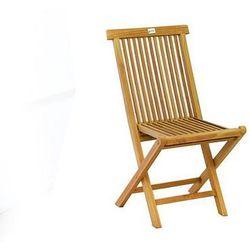 Składane krzesło z drewna tekowego