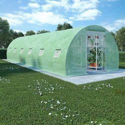 Vidaxl szklarnia ogrodowa, stalowa konstrukcja, 27 m², 900x300x200 cm (8718475723424)