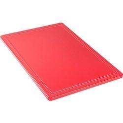Deska do krojenia haccp 600x400 mm, z wycięciem, czerwona | , 341631 marki Stalgast