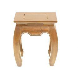 Vente-unique Stolik nocny z drewna lovina - lite drewno tekowe - kolor naturalny