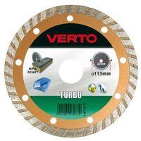 Tarcza do cięcia  61h3p5 125 x 22.2 diamentowa turbo marki Verto