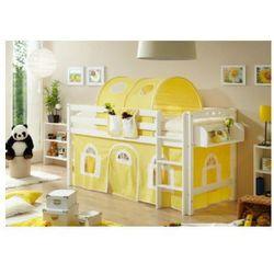 TiCAA Łożko piętrowe Timmy R buk, biały - żółty/biały - sprawdź w wybranym sklepie