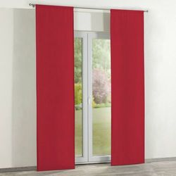 Dekoria Zasłony panelowe 2 szt., czerwony szenil, 60 × 260 cm, Chenille