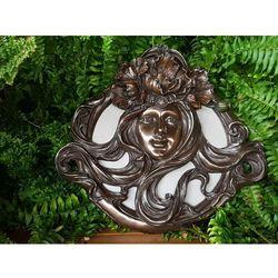 Unikatowe secesyjne lustro z kobietą  (an10459a4) marki Veronese