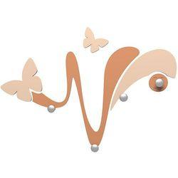 Wieszak ścienny dekoracyjny Butterfly CalleaDesign jasnobrązowy