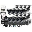 Zestaw do monitoringu: rejestrator -xvr1601+ 8x bcs-tqe5200ir3 - dysk 1tb + akcesoria marki Bcs