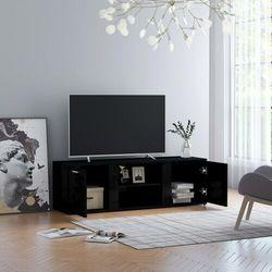 Vidaxl szafka pod tv, czarna na wysoki połysk, 120x34x37 cm (8719883870175)