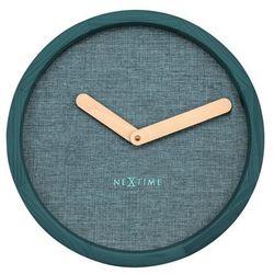 Zegar ścienny calm turkusowy marki Nextime
