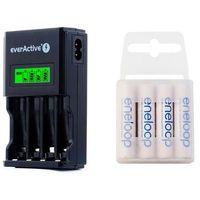 ładowarka everActive NC-450 Black + 4 x R03/AAA Panasonic Eneloop 800 (box) (ładowarka do akumulatorków)
