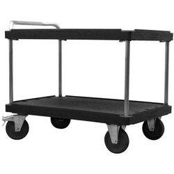Wózek stołowy do dużych obciążeń, dł. x szer. 1200x800 mm, nośność 500 kg, czarn