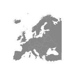 Foto naklejka samoprzylepna 100 x 100 cm - Europa mapa polityczna ze sklepu FOTAKO