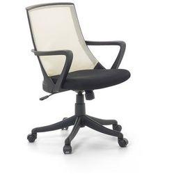 Krzesło biurowe beżowe - fotel biurowy obrotowy - meble biurowe - ERGO (7081451832412)